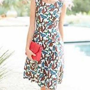 Talbots butterfly print dress size 8